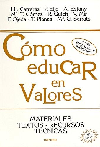 Libro CÓMO EDUCAR EN VALORES